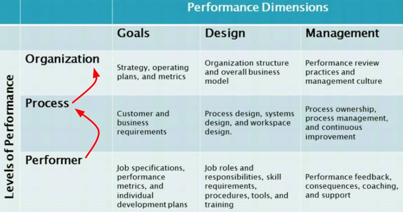 9 performance dimensions